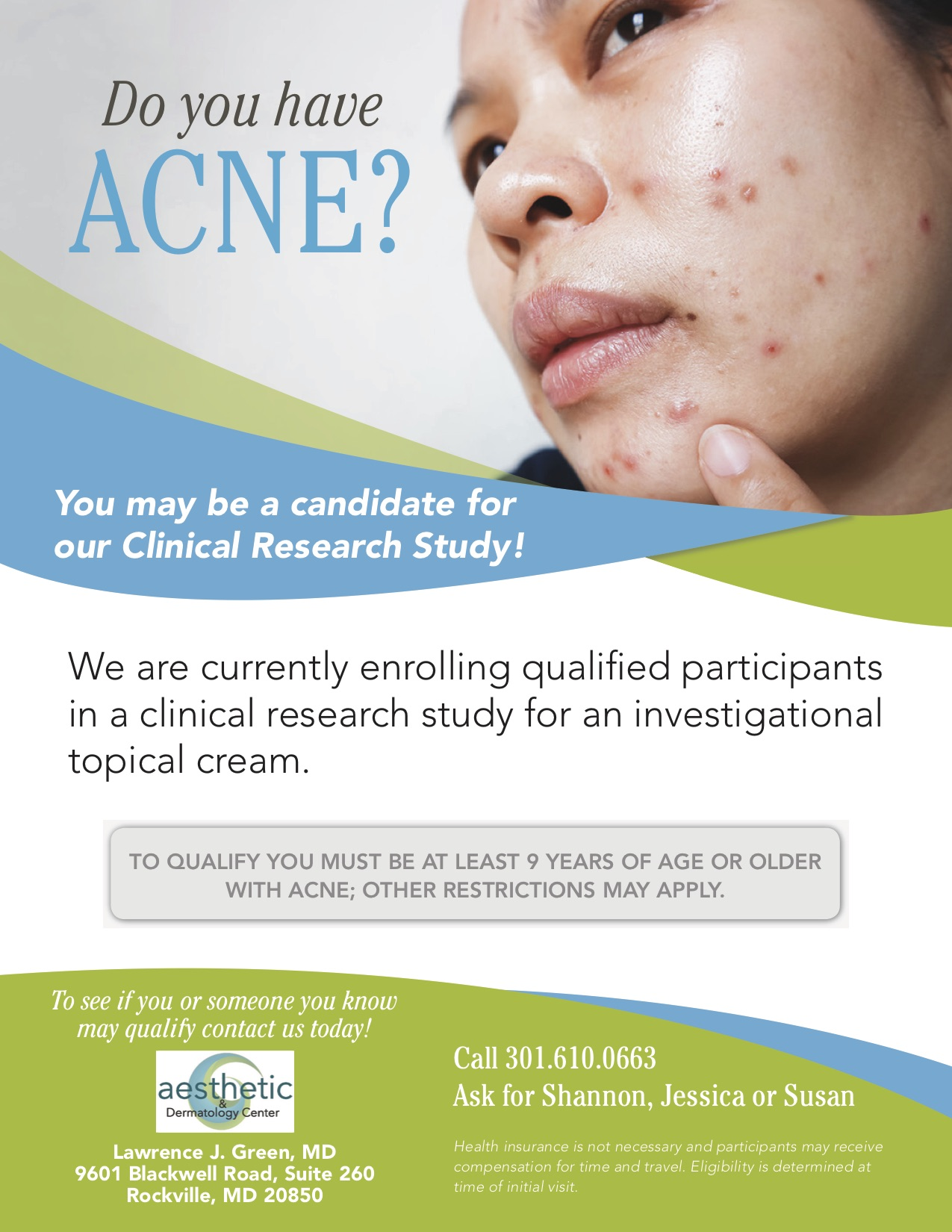 Current Trials - Aesthetic & Dermatology Center